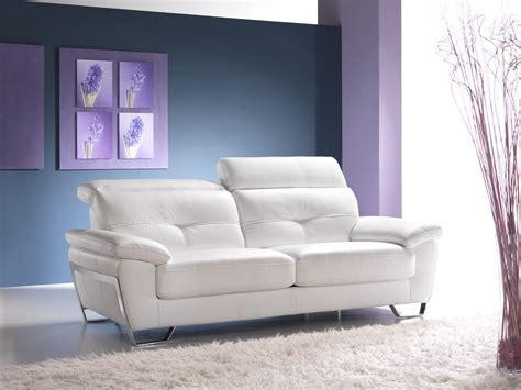 canape convertible cuir blanc maison design deyhouse