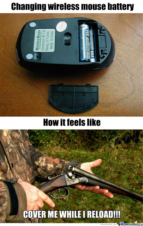 Wireless Meme - changing wireless mouse battery while in game by kenshun leung meme center