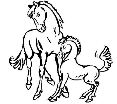 caballos dibujos  colorear de animales pintamonos