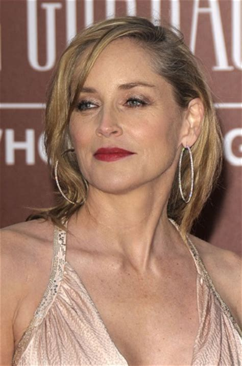 Sharon Stone Hairstyles   Sophisticated ALLURE Hairstyles