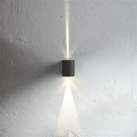 nordlux canto outdoor led wall light black