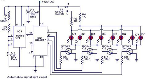 automobile turn signal light circuit diagram electronic