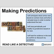 Literacy Strategies  Making Predictions