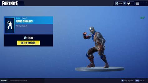 fortnite item shop update adds  hand signals hot