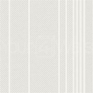 'Ariel' White Paintable Textured Striped Wallpaper ...