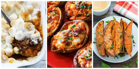 potatoes for dinner ideas 35 easy sweet potato recipes baked mashed and roasted sweet potatoes