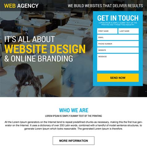 web design landing page clean informative and appealing web design and