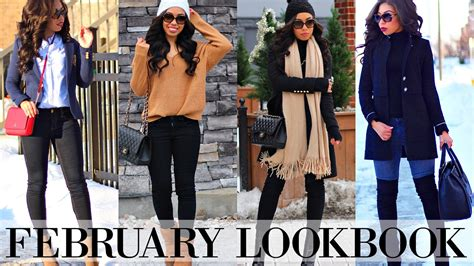 WINTER TO SPRING LOOKBOOK 2017 | 6 OUTFIT OF THE WEEK IDEAS - YouTube