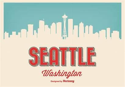Seattle Retro Washington Vecteezy Graphics Clip Vectorified
