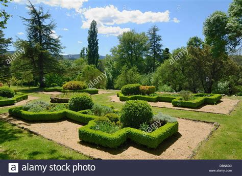 Formal French Garden With Topiary Hedges & Geometrical