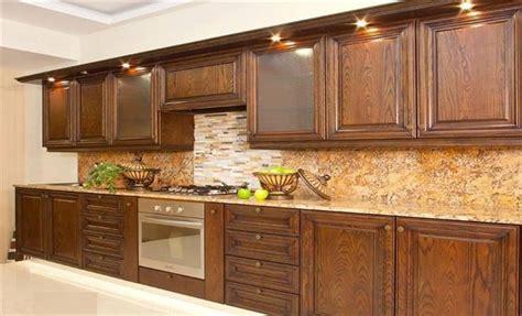 Brown Wooden Kitchen Cabinets Designs At Home Design