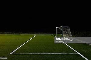 Soccer Field At Night Stock Photo | Getty Images