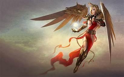 Warrior Angel Anime Female Fantasy Archangel Wallpapers