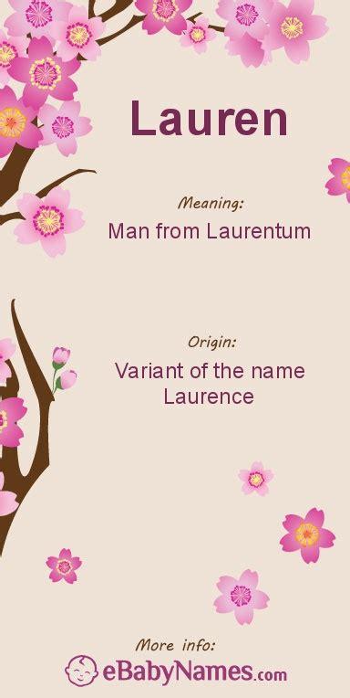 meaning  lauren lauren   variant   english  laurence    variant