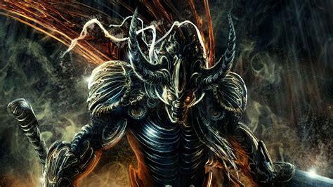 fantasy dark horror demon evil warrior weapons sword