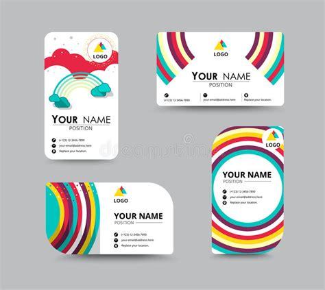 contact card template business contact card template design vector stock stock vector image 57493834