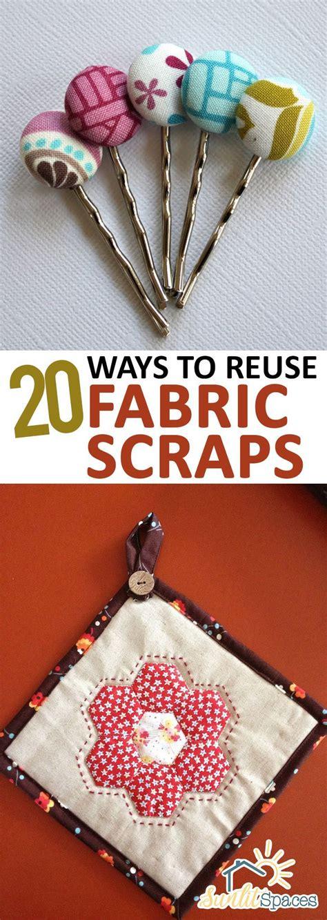 ways  reuse fabric scraps reuse fabric diy sewing