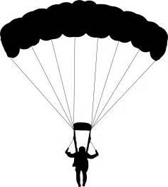 Parachute Silhouette Clip Art