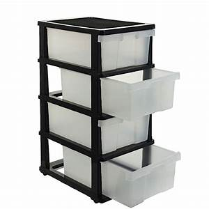 J, Burrows, 4, Drawer, Storage, Cabinet, Clear