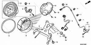 Honda Motorcycle 2011 Oem Parts Diagram For Speedometer