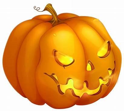 Pumpkin Halloween Evil Clipart Cartoon Clip Transparent