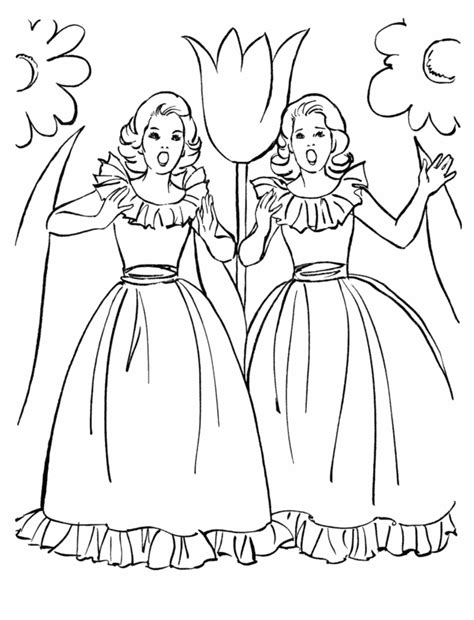 coloring pages  teenage girls coloring home
