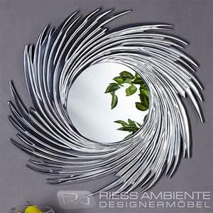 Wandspiegel Design Modern : runder design wand spiegel soleil mit alurahmen wandspiegel alu dekoration ebay ~ Indierocktalk.com Haus und Dekorationen
