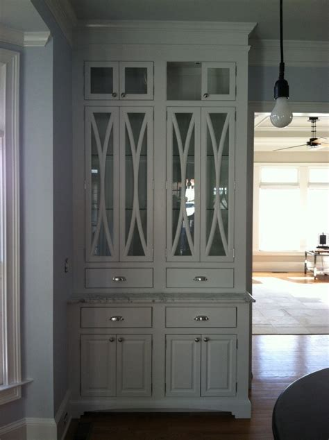 made china cabinet with elliptical door mullions by