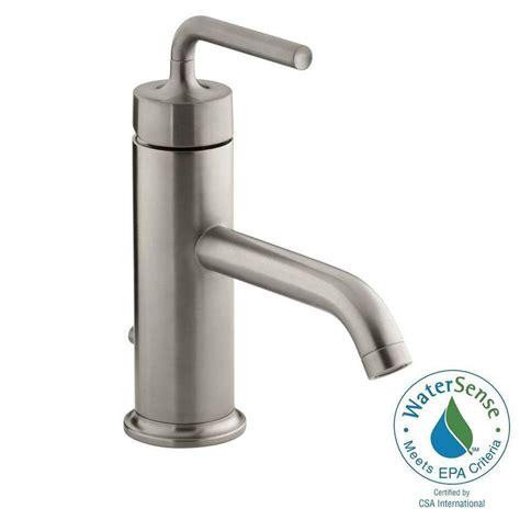 kohler purist 1 hole single handle low arc bathroom vessel
