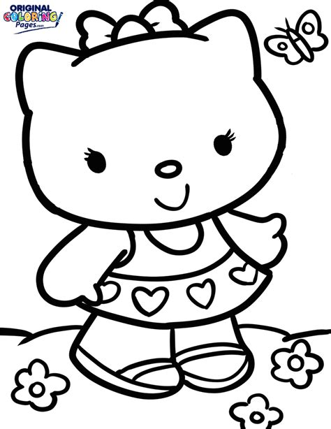 Hello Kitty Coloring Pages Original Coloring Pages