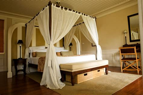 master bedrooms featuring canopy beds   poster