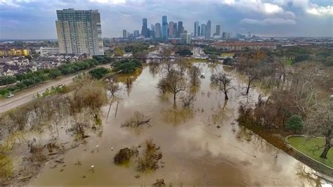 houston flood buffalo bayou january   dji