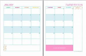 9 best images of 2 page monthly calendar printable 2015 With two page monthly calendar template