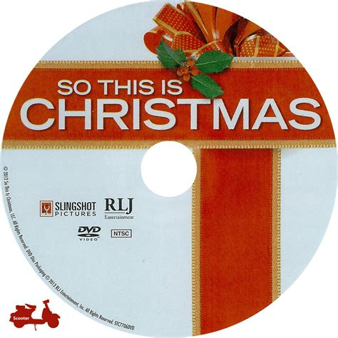 So This Is Christmas  Scanned Dvd Labels  So This Is