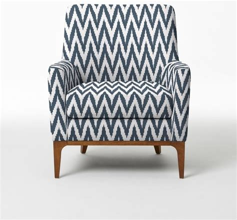 sloan upholstered chair blue lagoon chevron modern