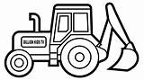 Excavator Coloring Digger Colouring Truck Draw Popular sketch template