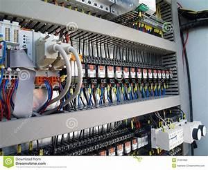 Materiale Elettrico Industriale Fotografia Stock
