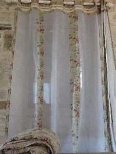 Rideau A Nouette : les rideaux assortis nos boutis en cotonnade imprim e unis ou dentelles ~ Teatrodelosmanantiales.com Idées de Décoration