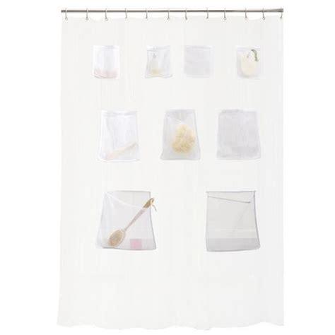 shower curtain with pockets mesh pockets peva shower curtain walmart ca