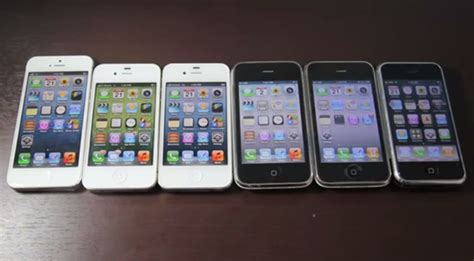 all iphones the iphone 5 battle it out against all the previous