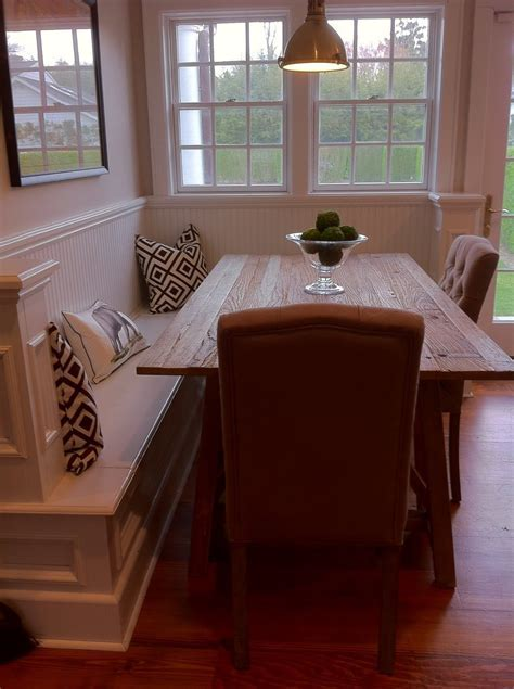 corner bench with dining table. this could be perfect as a