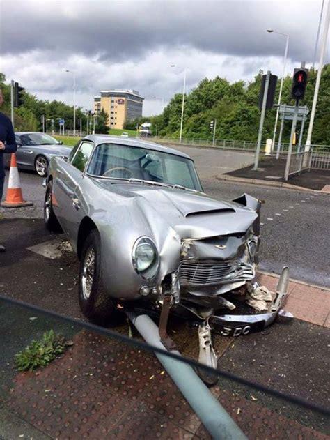 Martin Crash by Aston Martin Db5 Wrecked In Manchester