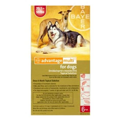 pack advantage multi  dogs   lbs  month red