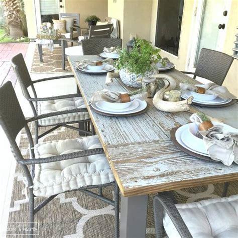 farmhouse patio table 10 diy outdoor farmhouse tables seeking lavendar