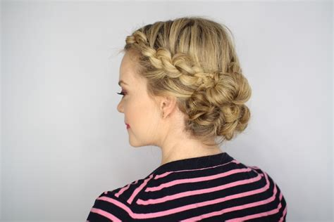 diy wedding day hairstyles rehearsal dinner knotted updo inside weddings