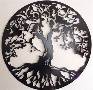 tree of life 75 cm 295 wall decor metal art black With tree of life wall decor