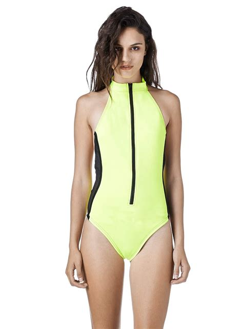 unif cooha  piece zip  swimsuit  storenvy