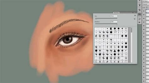 photoshop realistic eye drawing tutorial youtube