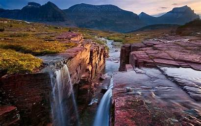 Montana Glacier National Park Rock Falls Desktop