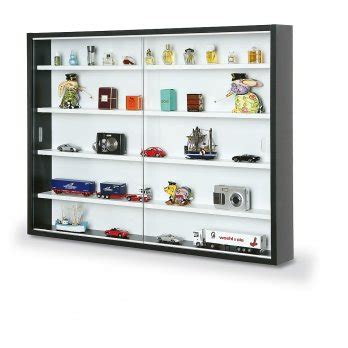 new display cabinet modern storage shelves wall glass box collectibles ebay